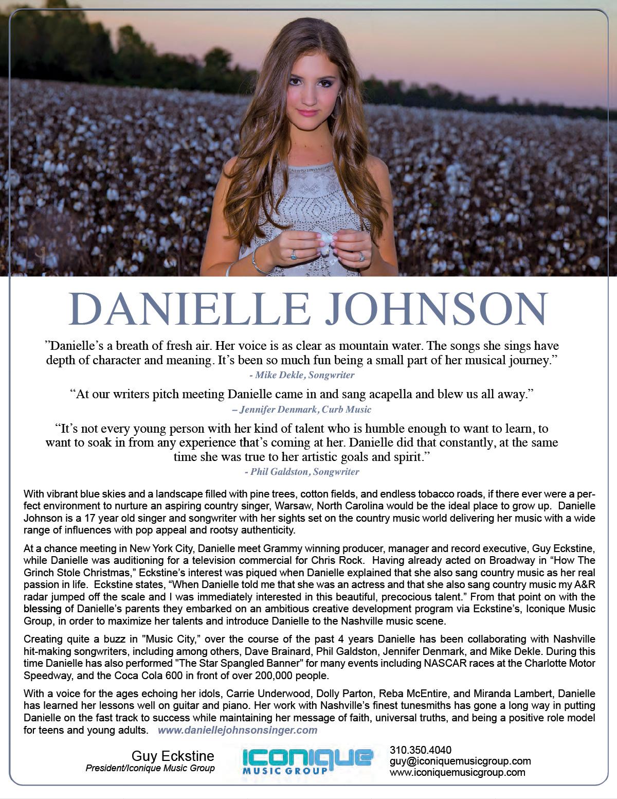 Danielle Johnson One-Sheet